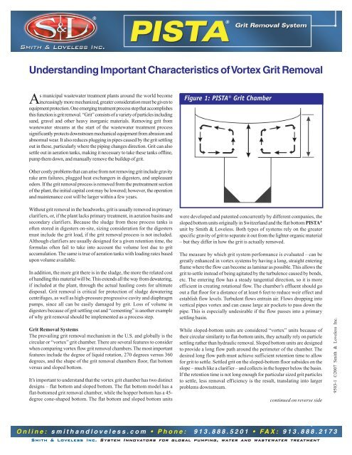 Understanding Important Characteristics of Vortex Grit Removal
