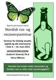 Nordisk rus- og recoveryseminar