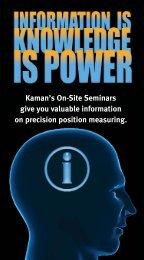 Lunch & Learn - Kaman Precision | Position sensors