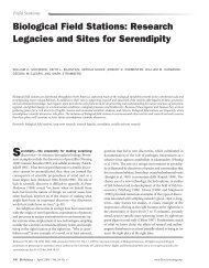 Research Legacies and Sites for Serendipity. - Organization of ...