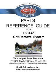 PARTS REFERENCE GUIDE - Smith & Loveless Inc.