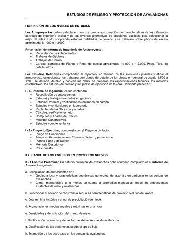 ESTUDIOS DE PELIGRO Y PROTECCION DE AVALANCHAS