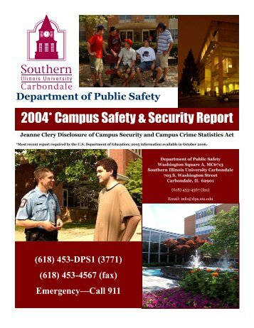 2004* Campus Safety & Security Report - Department of Public Safety