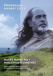 Termine Herbst 2013 - Hawaiian spiritual healing academy