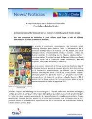 Campaña Promocional de la Fruta Chilena es ... - Fruits from Chile