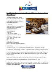 Fresh Chilean Blueberry-Banana Bread with ... - Fruits from Chile
