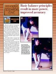 Balance prinicipals power/accuracy