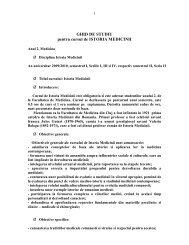 Ghid de studii Ist. Medicinii - pt. seriile de Romana - UMF