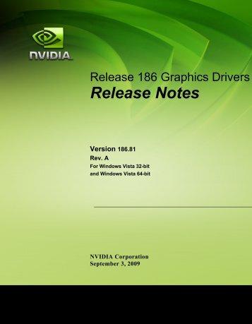 Windows Vista Release Notes - Nvidia's Download site!!