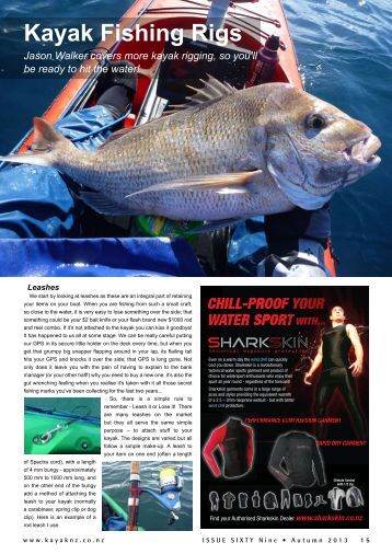 Kayak Fishing Rigs - New Zealand Kayak Magazine