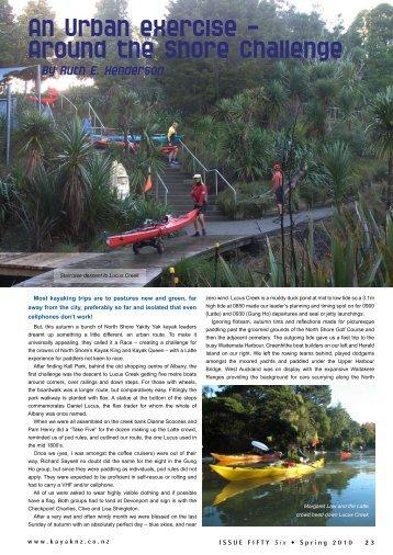 An urban excersize - New Zealand Kayak Magazine