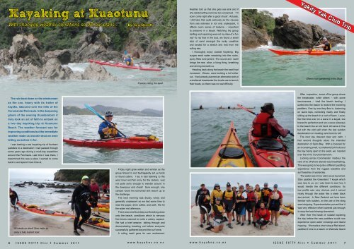 Kayaking at Kuaotunu - New Zealand Kayak Magazine