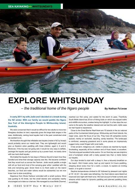 EXPLORE WHITSUNDAY - New Zealand Kayak Magazine