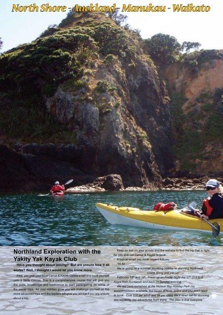 Northland Exploration with the Yakity Yak Kayak Club