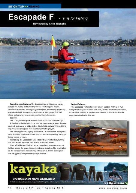 Escapade F - New Zealand Kayak Magazine
