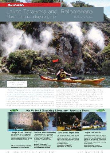 Lakes Tarawera and Rotomahana - New Zealand Kayak Magazine