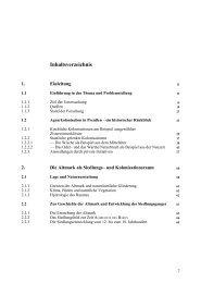 Inhaltsverzeichnis - Universität Bonn