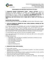Regulamento - PTI - Parque Tecnológico Itaipu