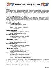USASF Disciplinary Process - USASF Dance