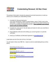 USASF Credentialing Renewal Instructions