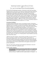 USASF Tier 1 & 2 Approval Guidelines 11 - 12
