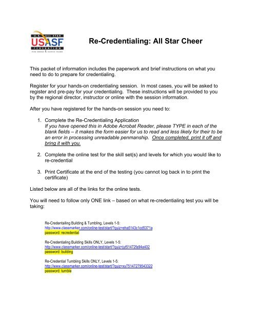 USASF Coach Re-Credentialing