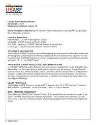 © 2012 USASF USASF Board Meeting Minutes November 7, 2012 ...