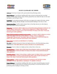 dance glossary of terms