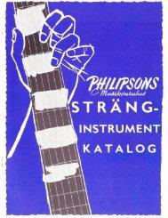 1958 Philipsons Musikvaruhus catalog pages - Vintage Guitars