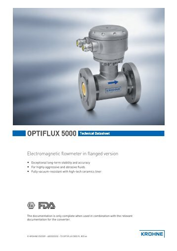 OPTIFLUX 5000 - Flow meter