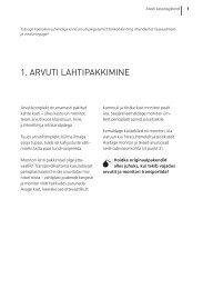 1. ARVUTI LAHTIPAKKIMINE - Ordi