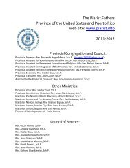 The Piarist Fathers Province of the United States and Puerto Rico ...