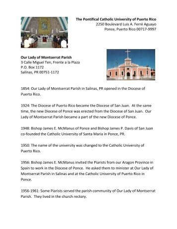Ponce and Salinas - The Piarist Fathers
