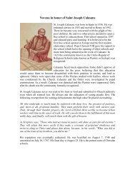 Novena in honor of Saint Joseph Calasanz - The Piarist Fathers