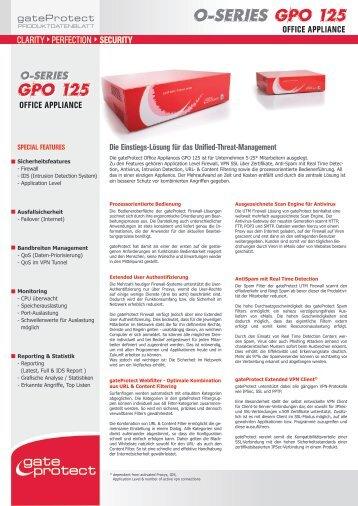 o-series GPO 125 GPO 125