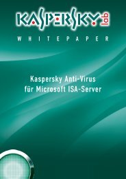 Kaspersky Anti-Virus für Microsoft ISA-Server - S.A.C. NET Service ...
