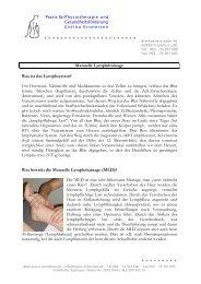 Manuelle Lymphdrainage Was ist das Lymphsystem? Um Hormone ...