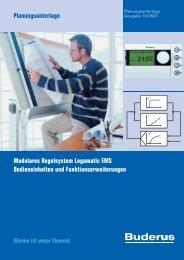 Modulares Regelsystem Logamatic EMS Bedieneinheiten ... - Buderus