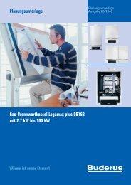Planungsunterlage Gas-Brennwertkessel Logamax plus ... - Buderus