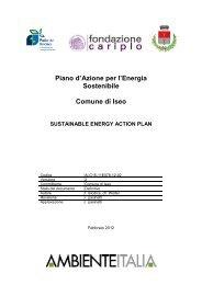 Piano d'Azione per l'Energia Sostenibile (PAES) - Comune di ...