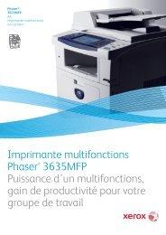 Imprimante multifonctions Phaser® 3635MFP Puissance d ... - Axantis