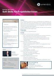 """Seminar """"Soft Skills für Projektleiter/innen"""" - amendos gmbh"""