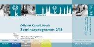 komplettes Seminarprogramm 2. Halbjahr 2013 - Offener Kanal ...