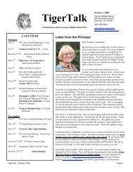 October - Terman Middle School PTA - Palo Alto Council of PTAs