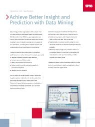 Achieve Better Insight and Prediction with Data Mining - Sorry