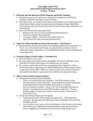 Gunn High school PTSA General Board Meeting November 8, 2012 ...