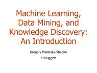 DM1: Introduction: Machine Learning and Data Mining - Sorry