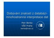 Dobývání znalostí z databází- mnohostranná interpretace dat - Sorry