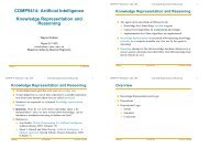 COMP9414: Artificial Intelligence Knowledge Representation ... - Sorry