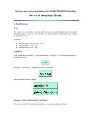 Review of Probability Theory - Sorry